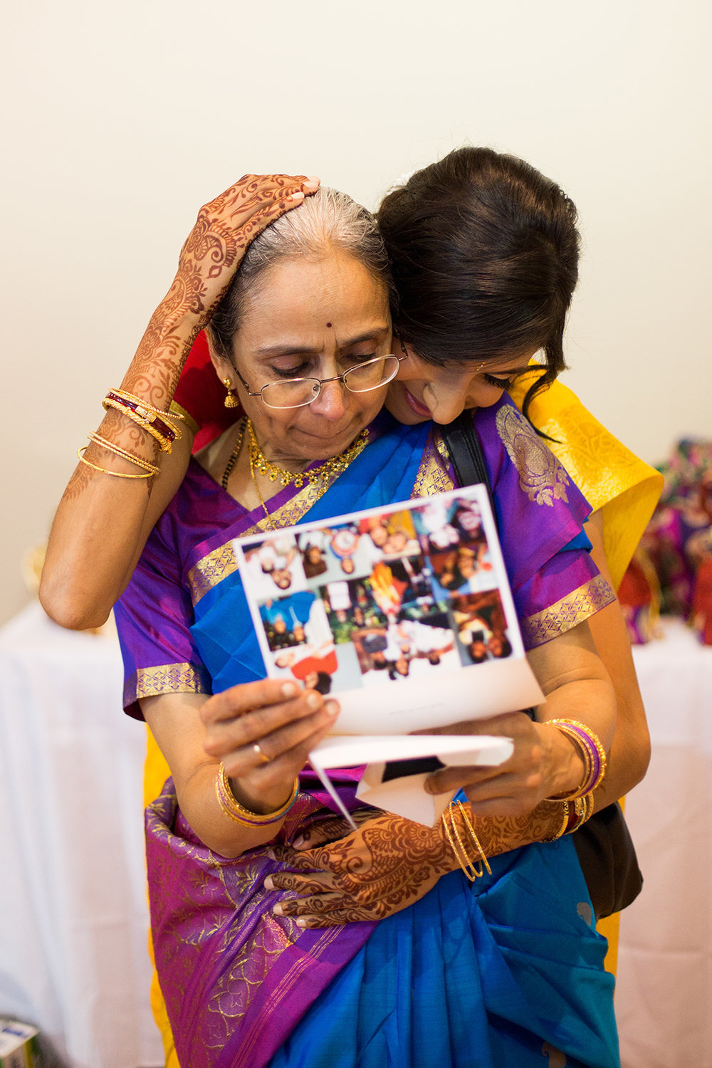 Sweet Moment Between and Indian Bride and Her Mother