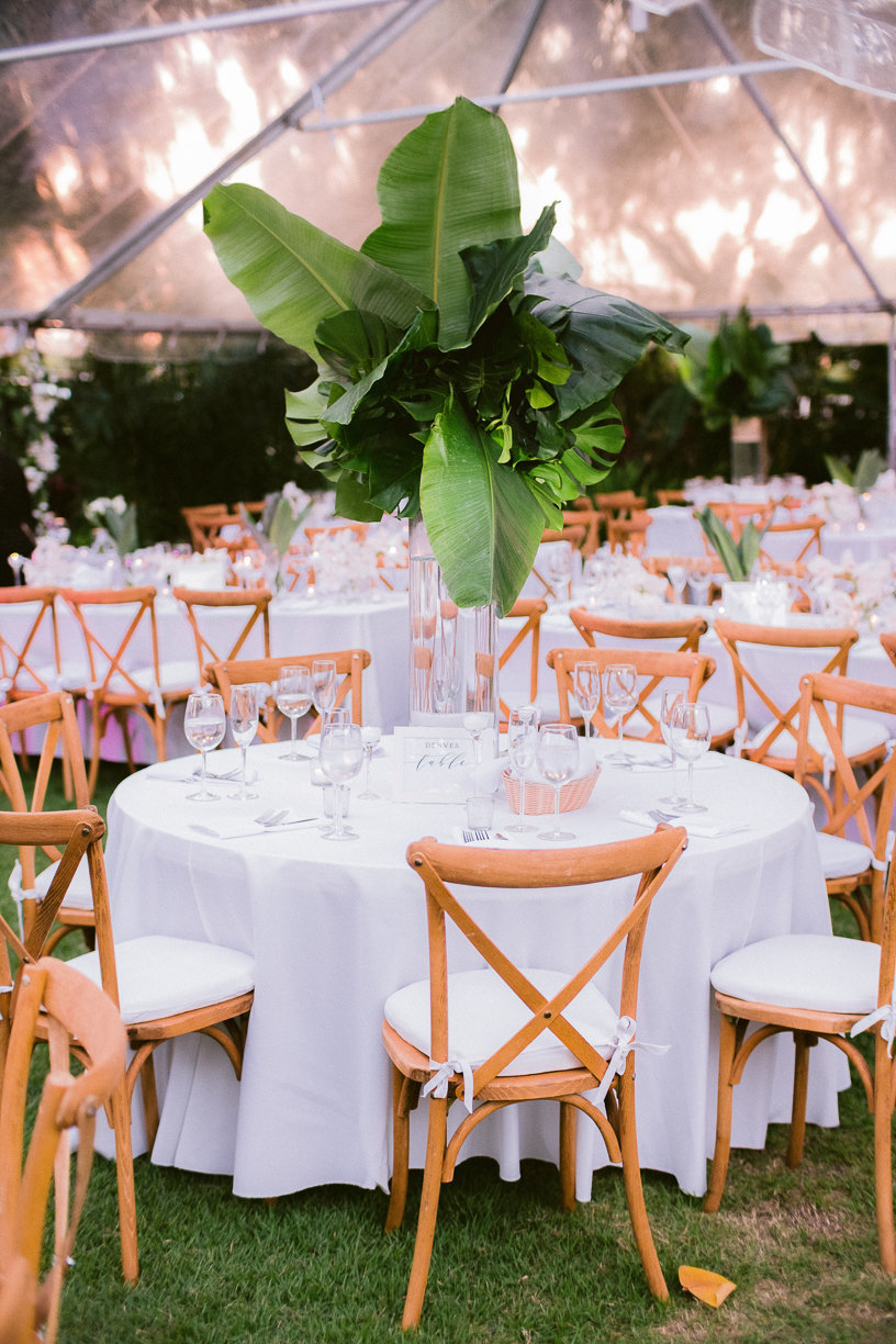 miami beach garden centerpieces