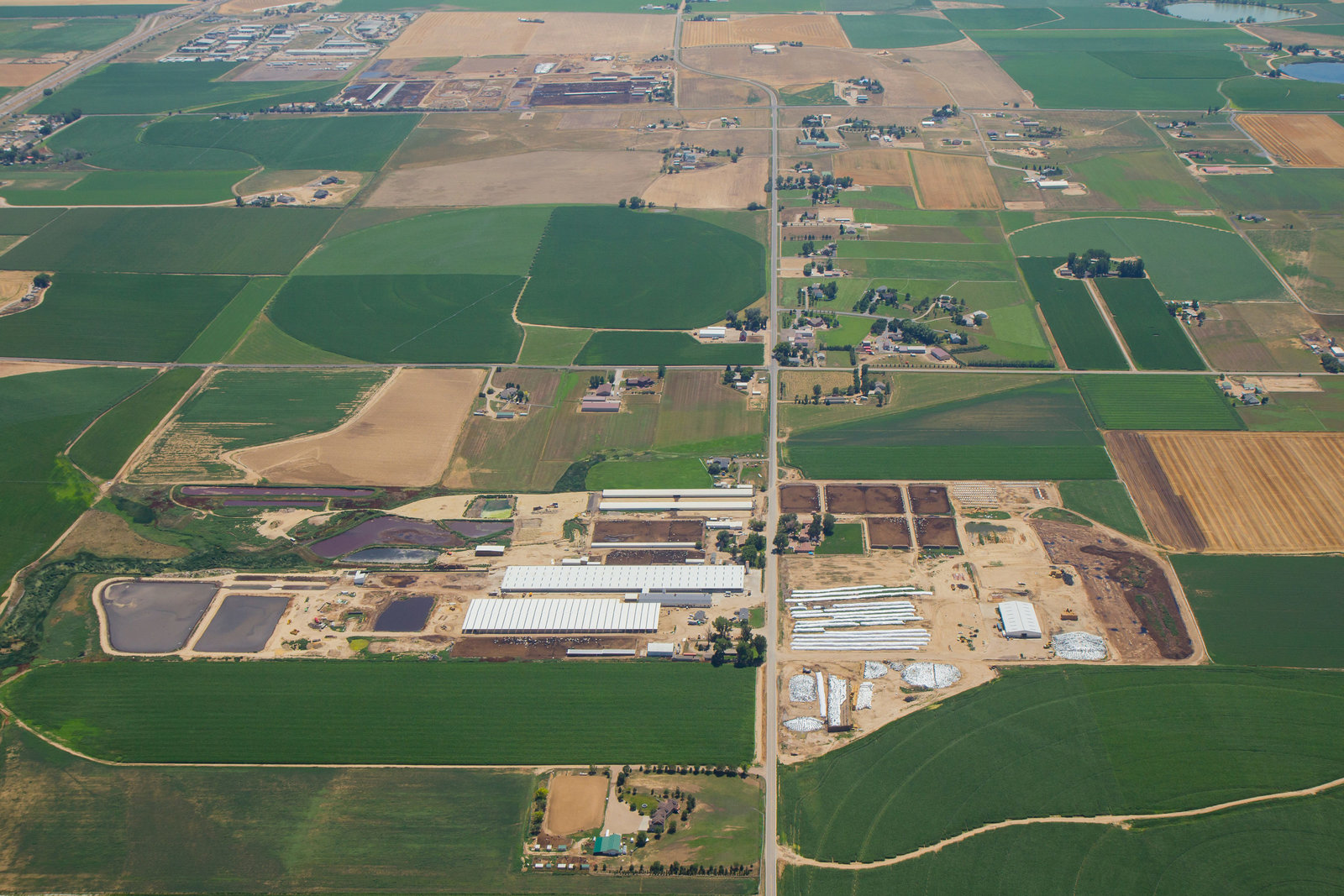 Loveland Colorado Aerial Photo Dairy Farm