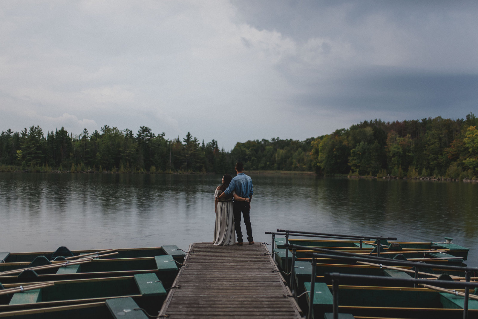 The Wedding Co. Romantic Stormy Engagement Session The Notebook | Jacqueline James Photography Toronto Wedding Photographer