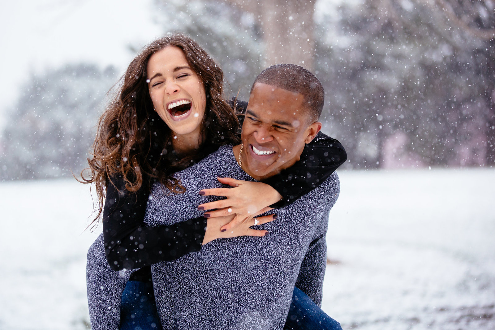 Denver snow engagement - Akisanya-26