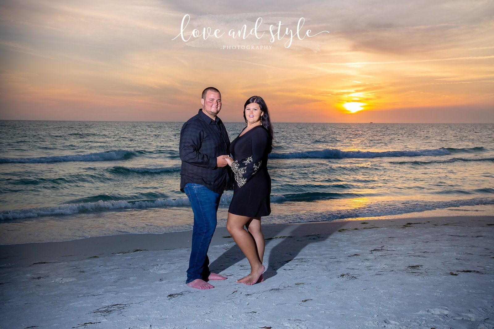 Bradenton Engagement Photography at Coquina Beach at Sunset