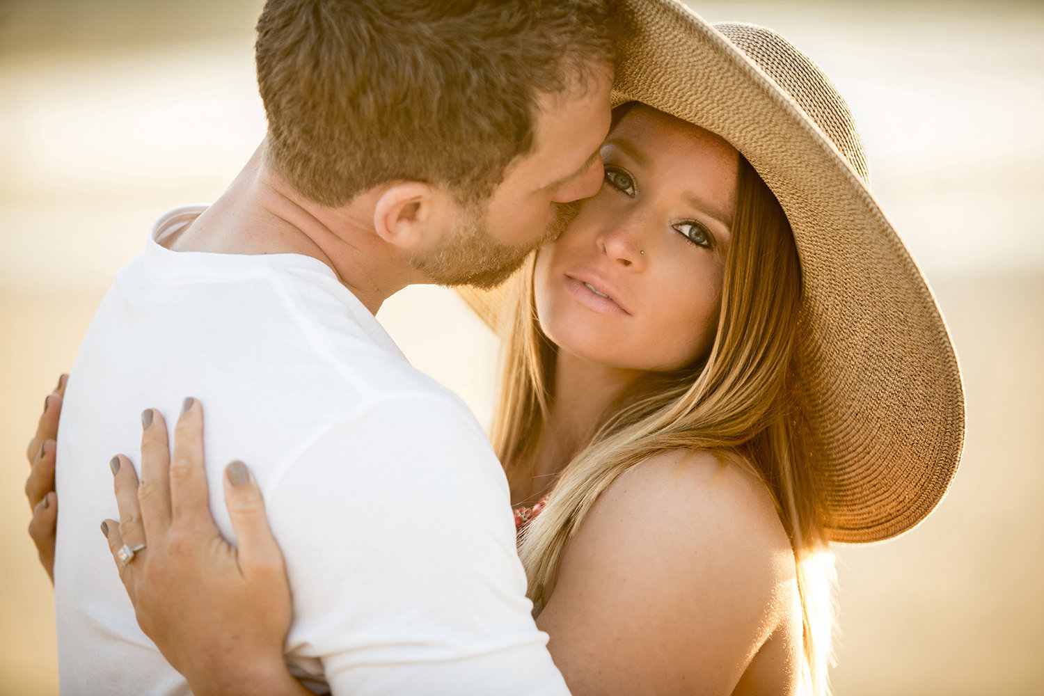 La Jolla Shores engagement photos stunning couple shot