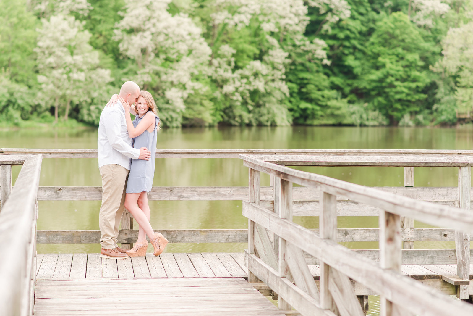 Summer Engagement Session at Fort Harrison State Park