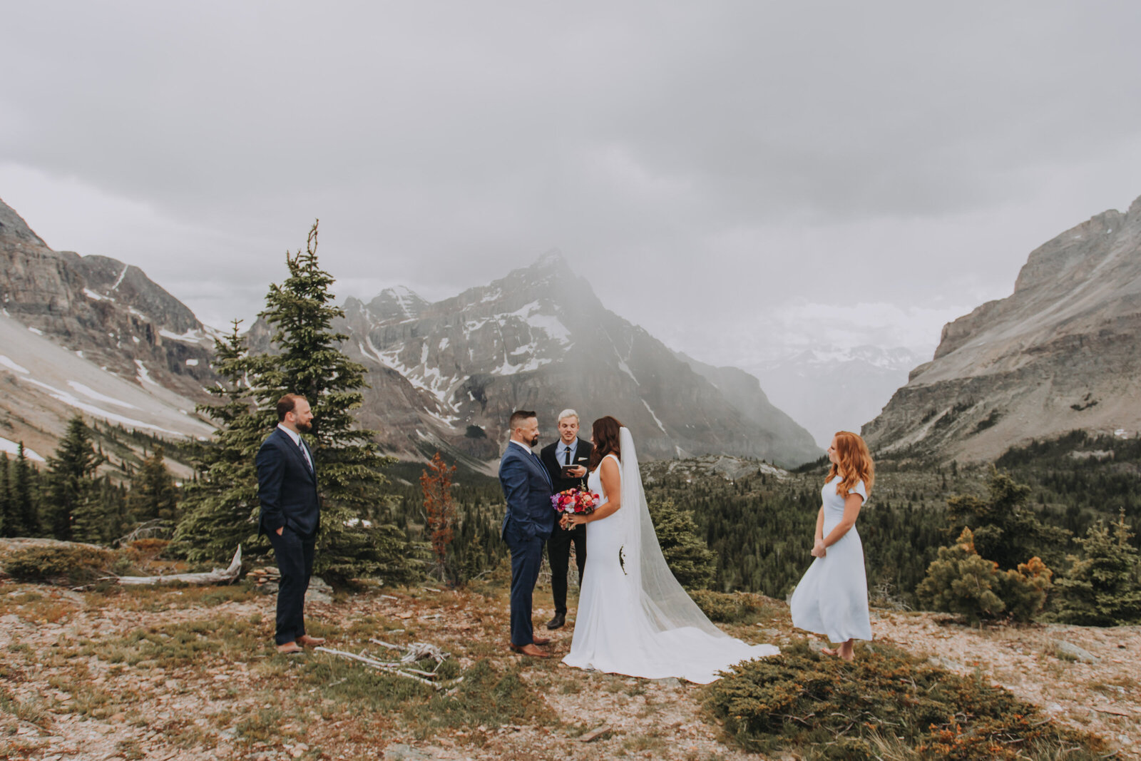 Banff Heli Elopement Photographer