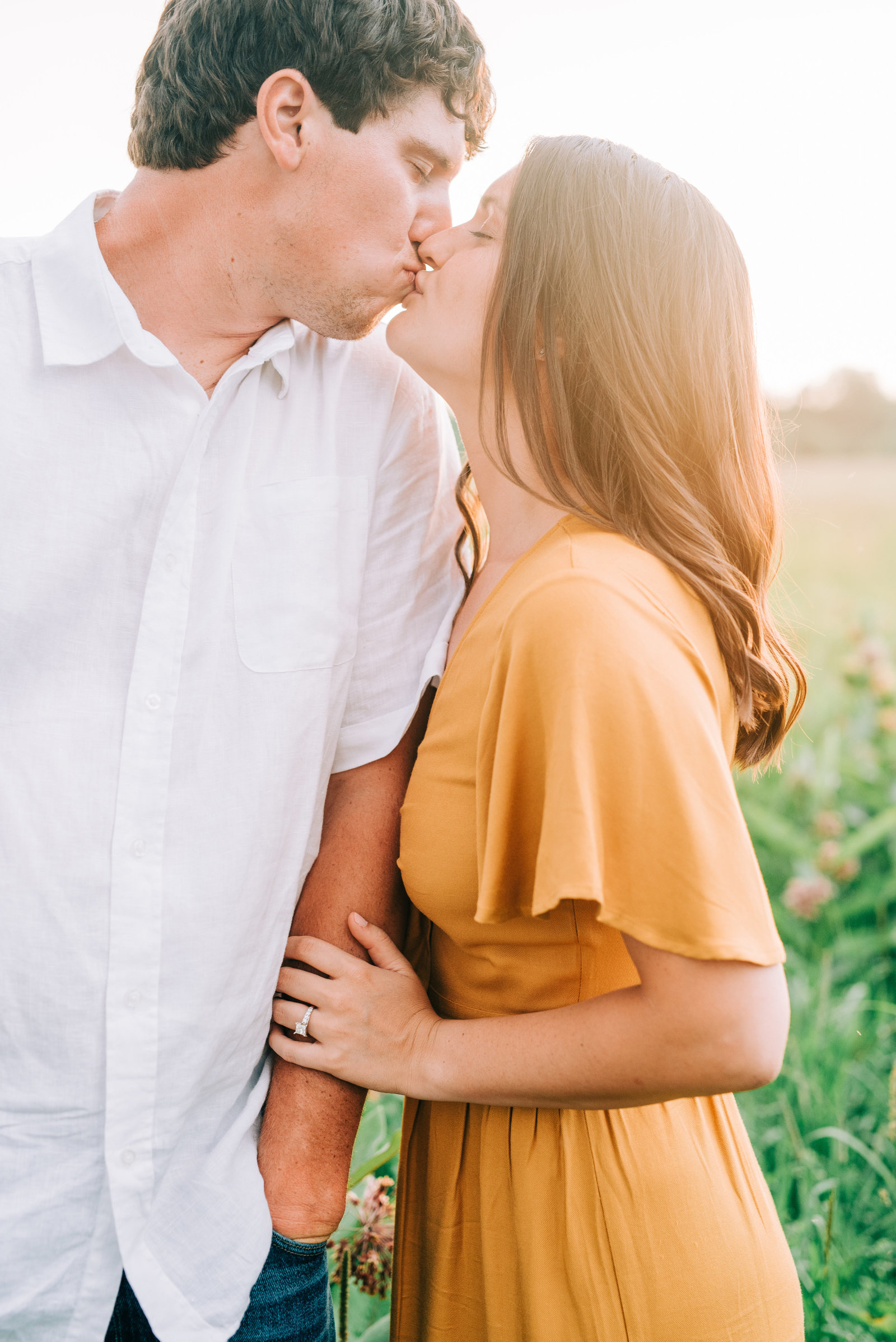 Fall Golden Hour Engagement Session in Chautauqua NY