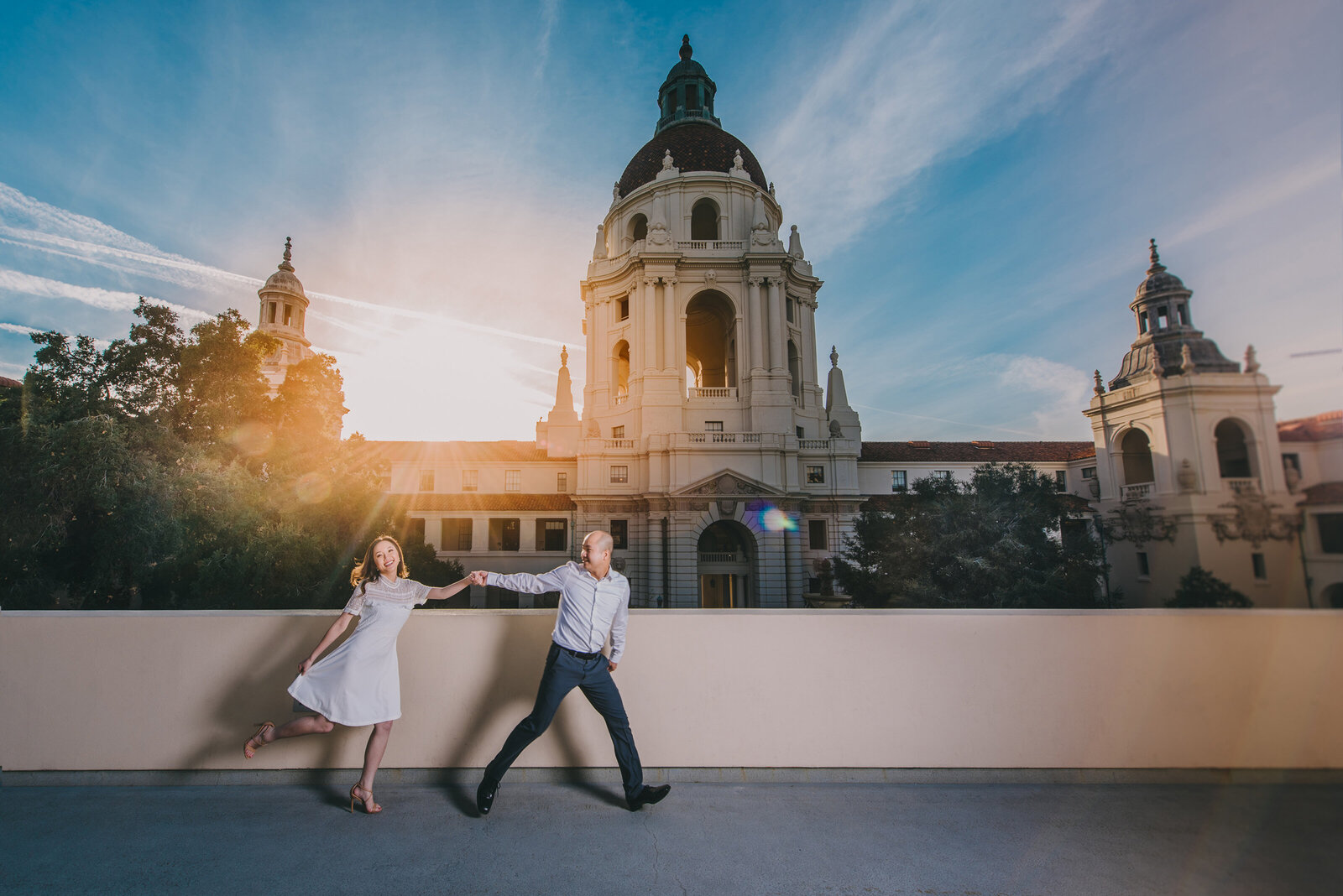 pasadena city hall engagement photography 1002
