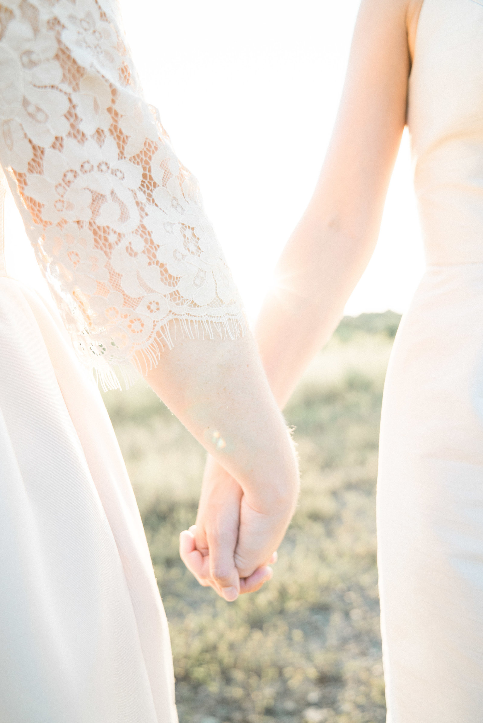 charlotte wedding photographer shot of Wedding Photography of girls holding hands