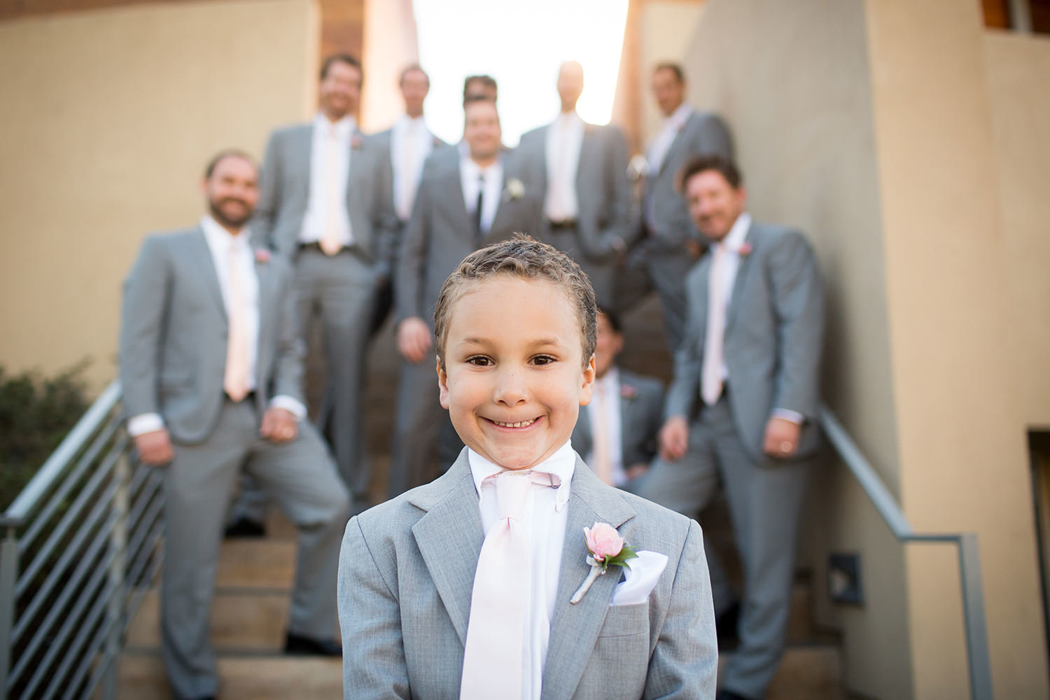 ring bearer with a huge smile