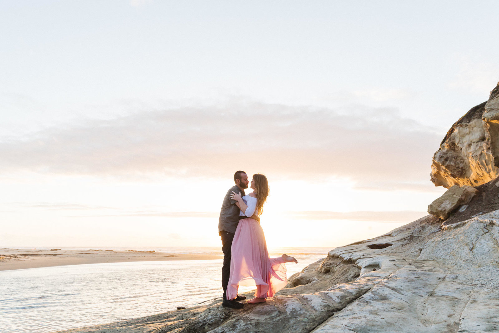 beautiful engagement photography near half moon bay CA