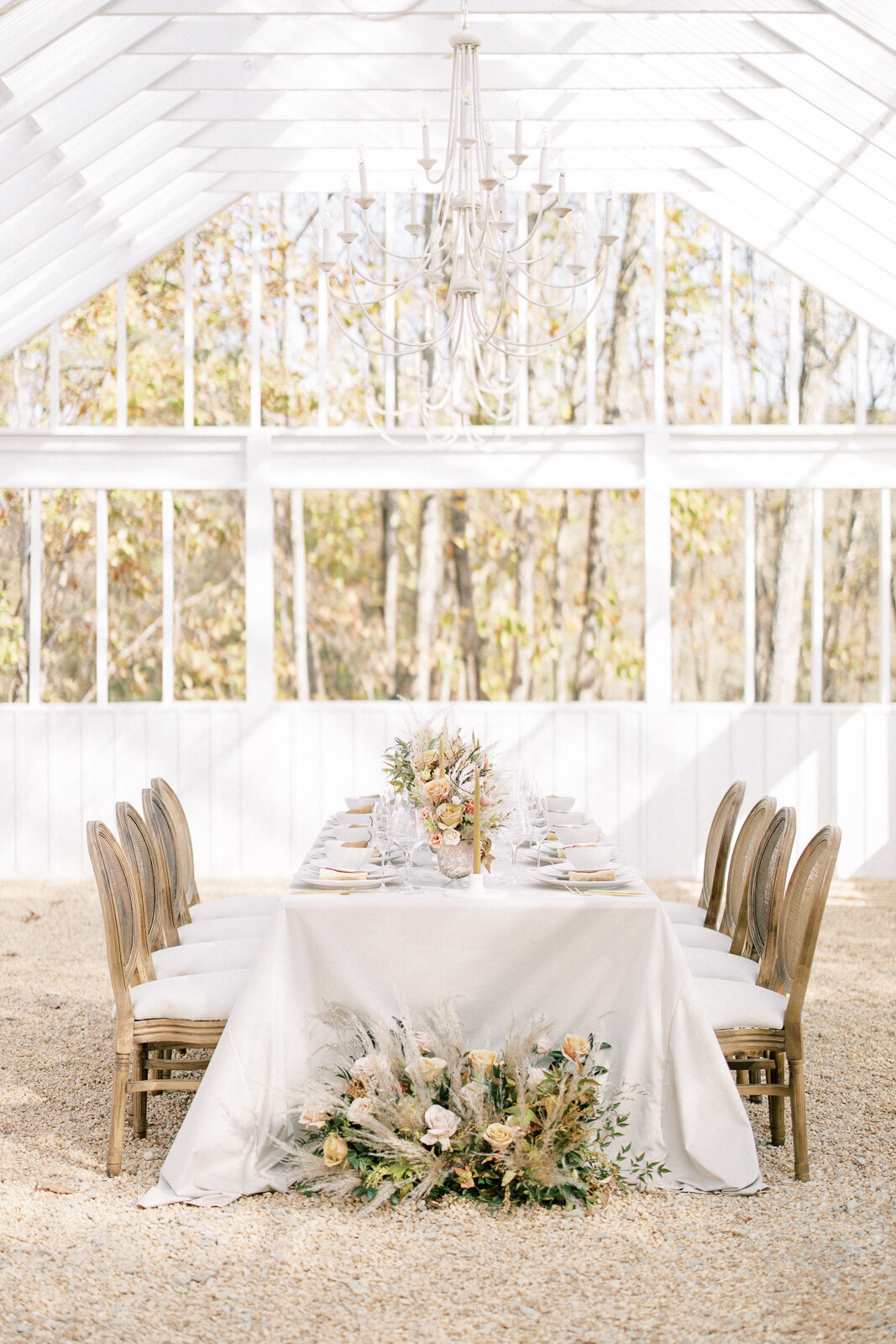 Modern and classic wedding rentals by The Heirloom Collection and Selah Ray Florals