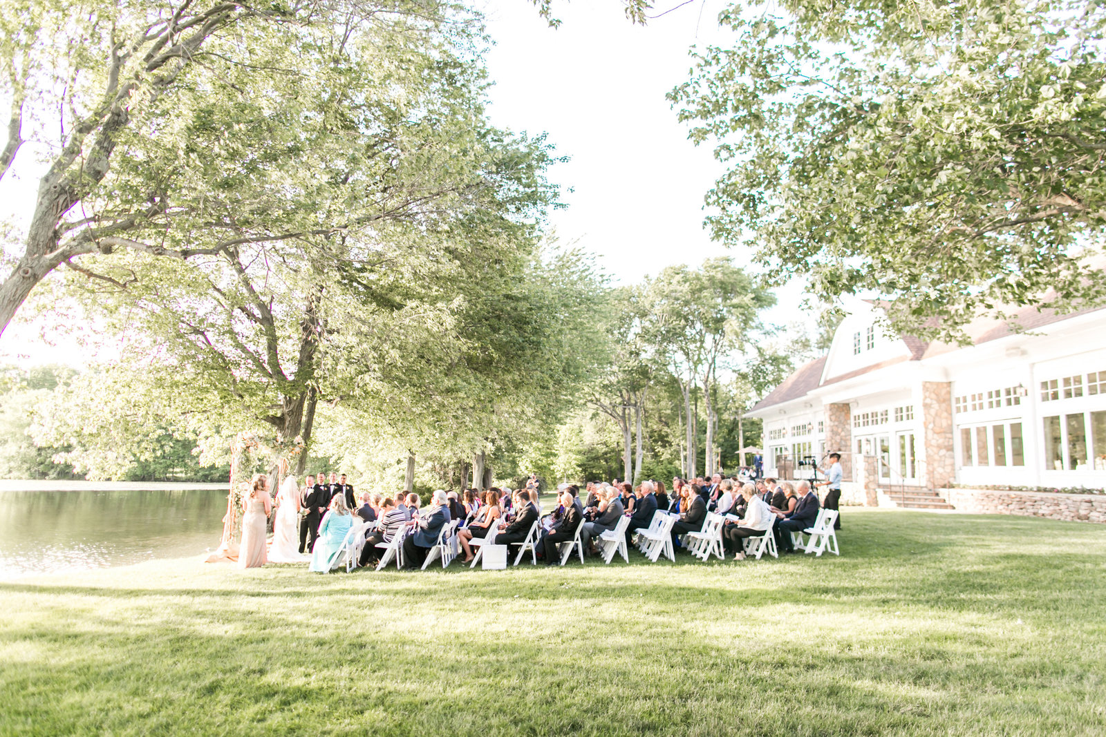 Outdoor wedding ceremony at Indian Trail Club