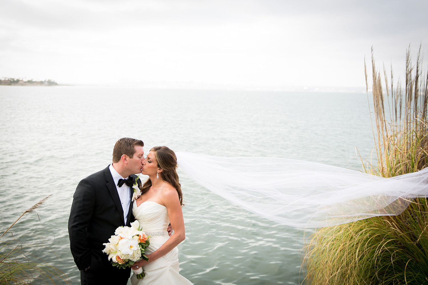 bride and groom at the beautiful loews coronado