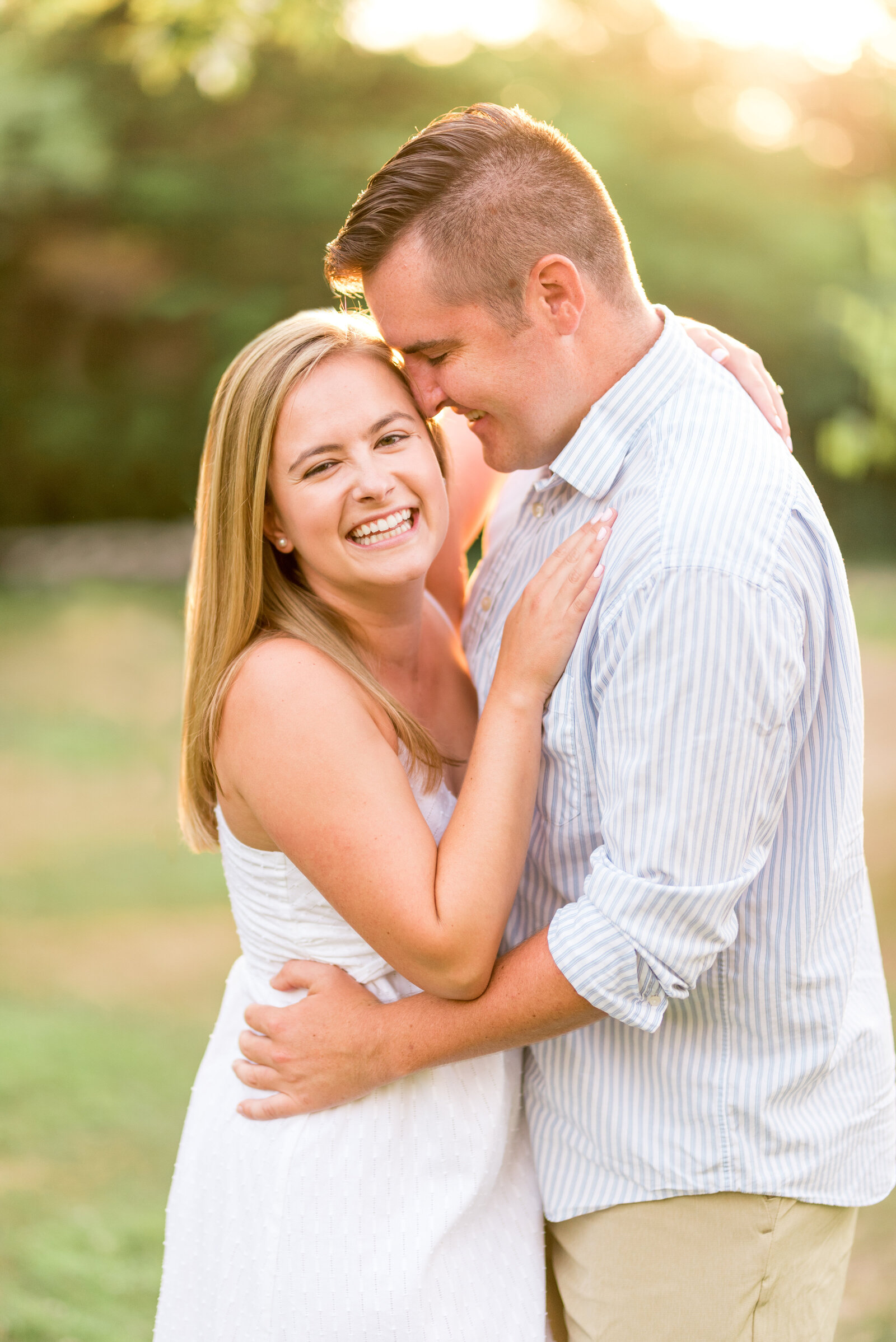 Giggly Engagement Couple