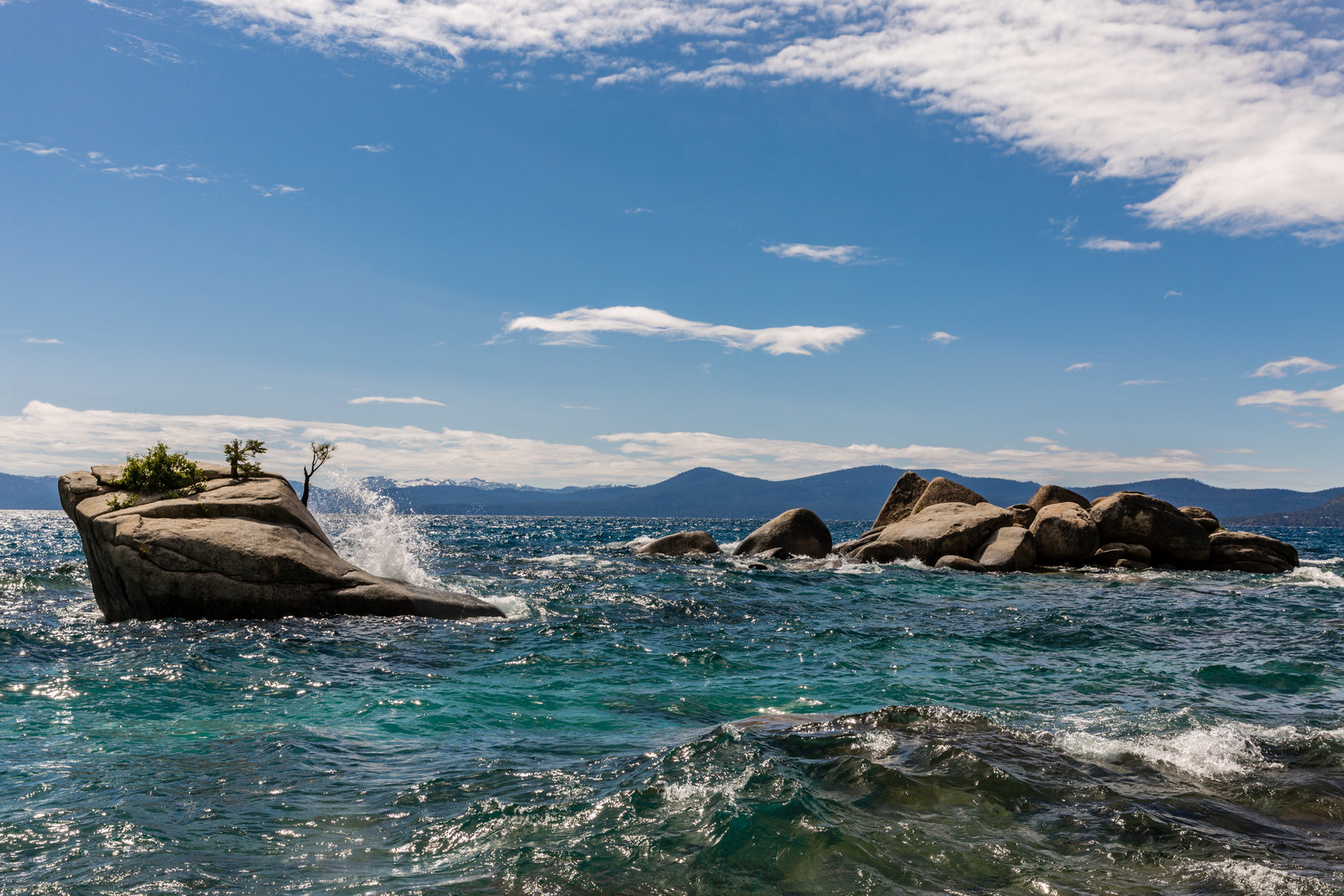 East shore Lake Tahoe offers stunning lake and mountain view perfect for the adventurous couple to hike and elope.