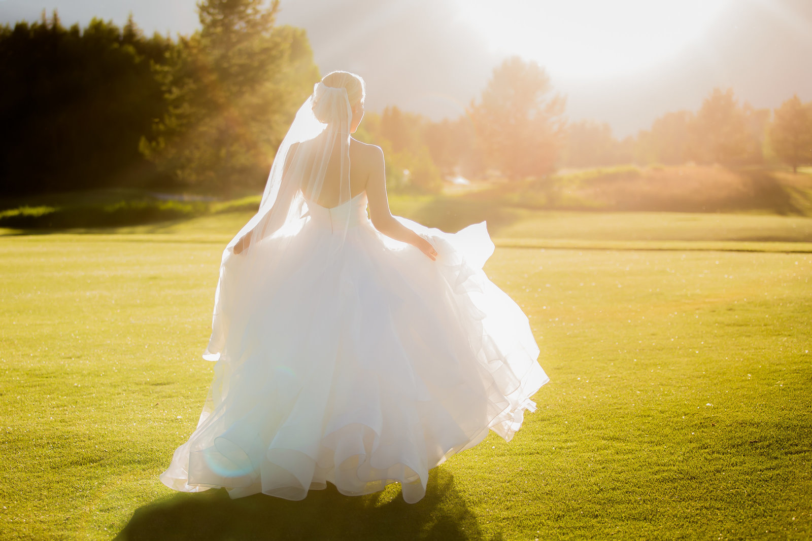 Bride dancing at Jackson Hole Golf and Tennis