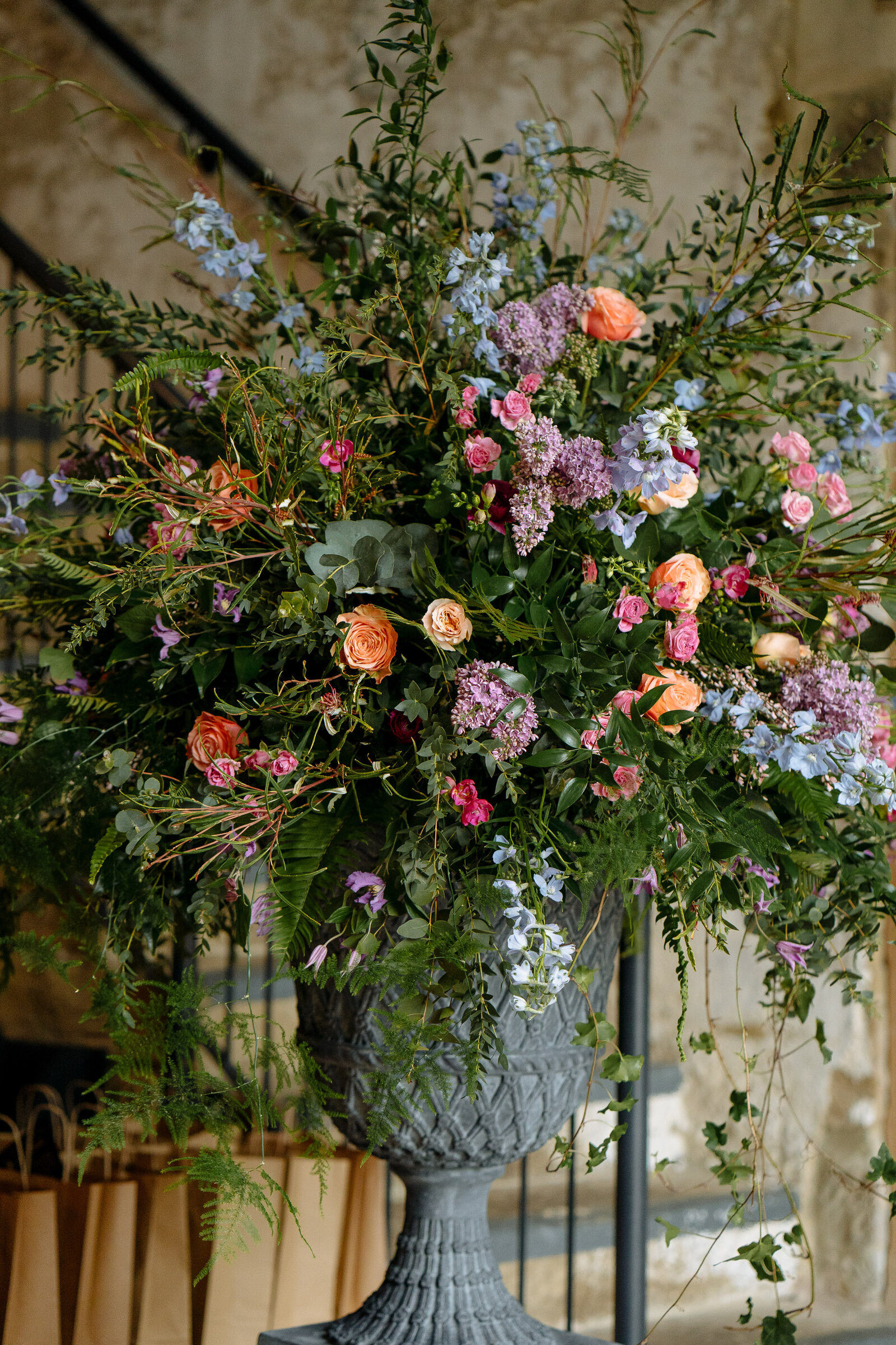 Floral decor at Wharfedale Grange wedding
