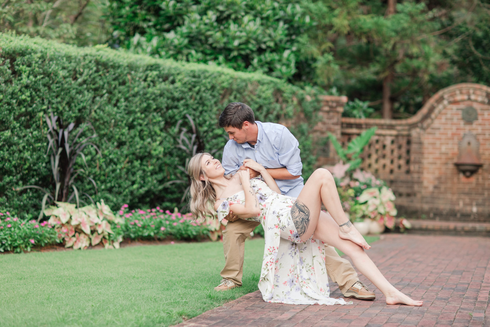 Jennifer B Photography-Sandhills Horticultural Gardens Engagement-Pinehurst NC-Cody and Kayla-2019-0195