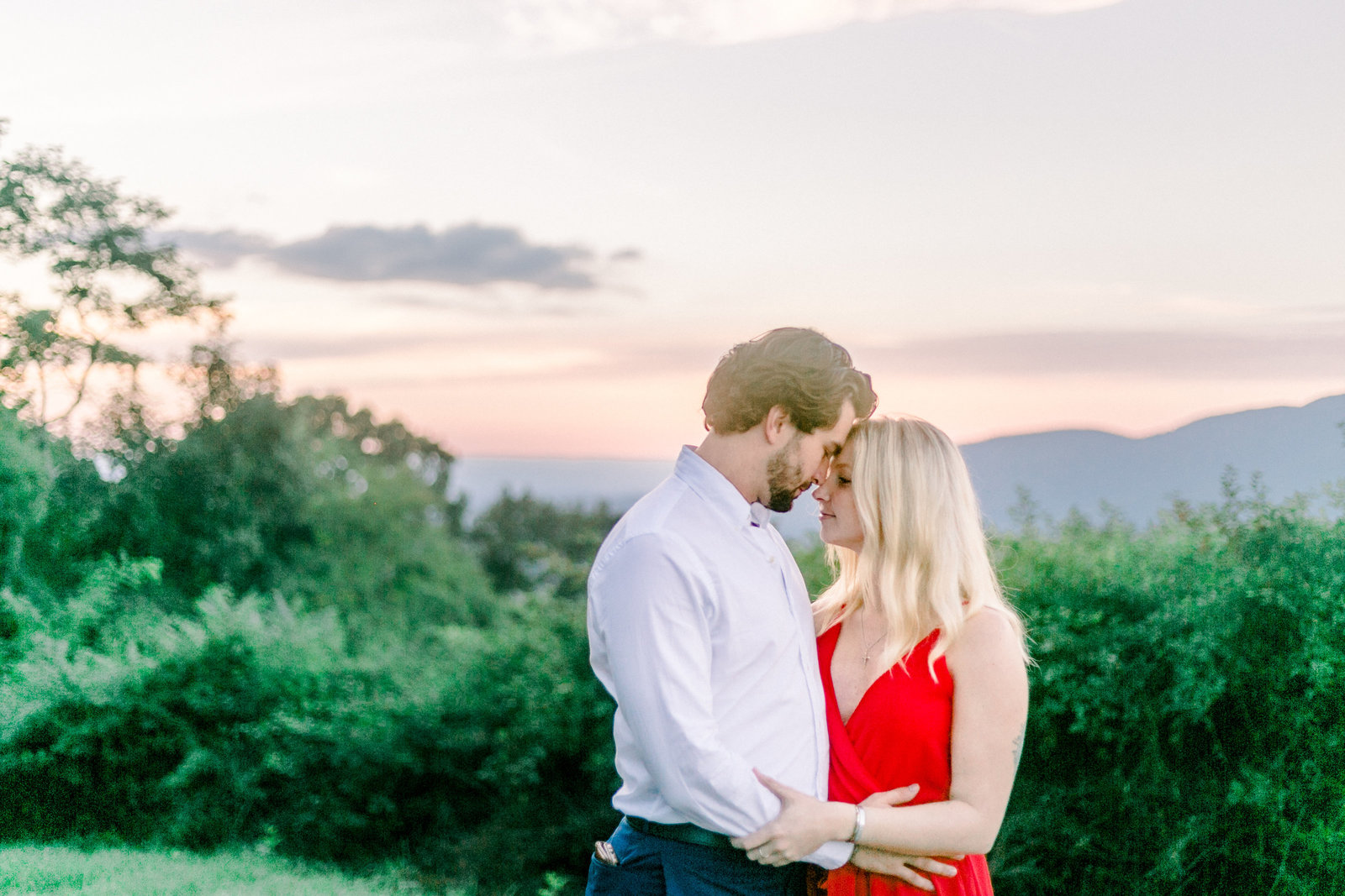 Romantic view for engagement photos captured by Staci Addison Photography