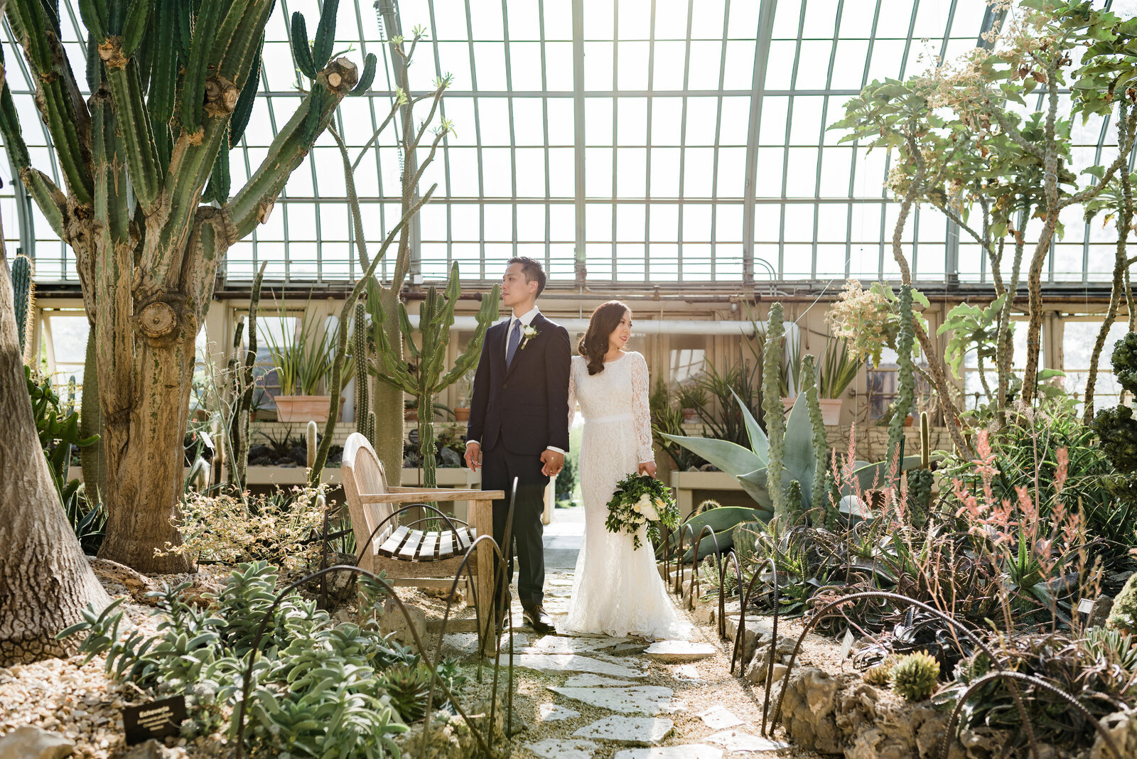 Garfield Park Conservatory Wedding _ Susie and Joe_104