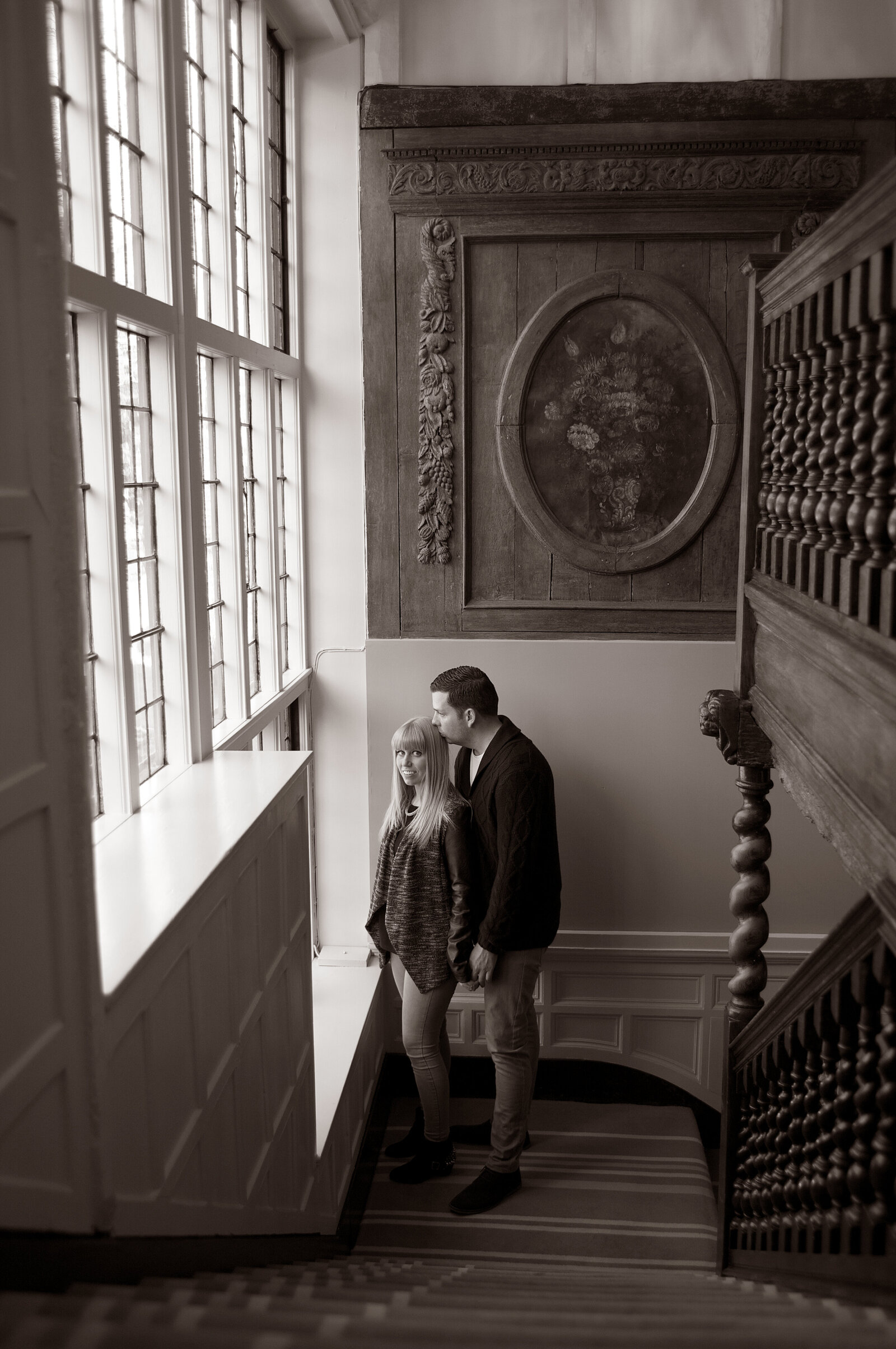 stairs pre-wedding shot