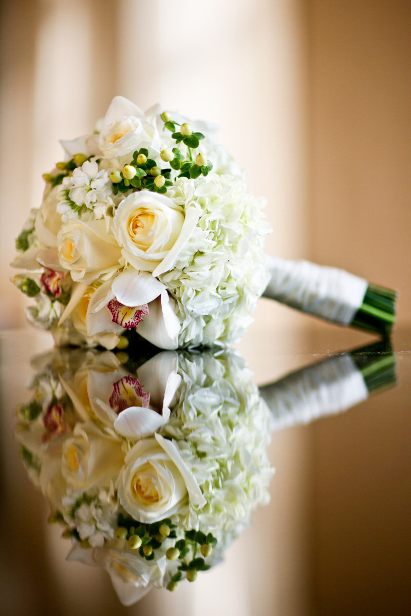 Bridal Bouquet Cream White and Green