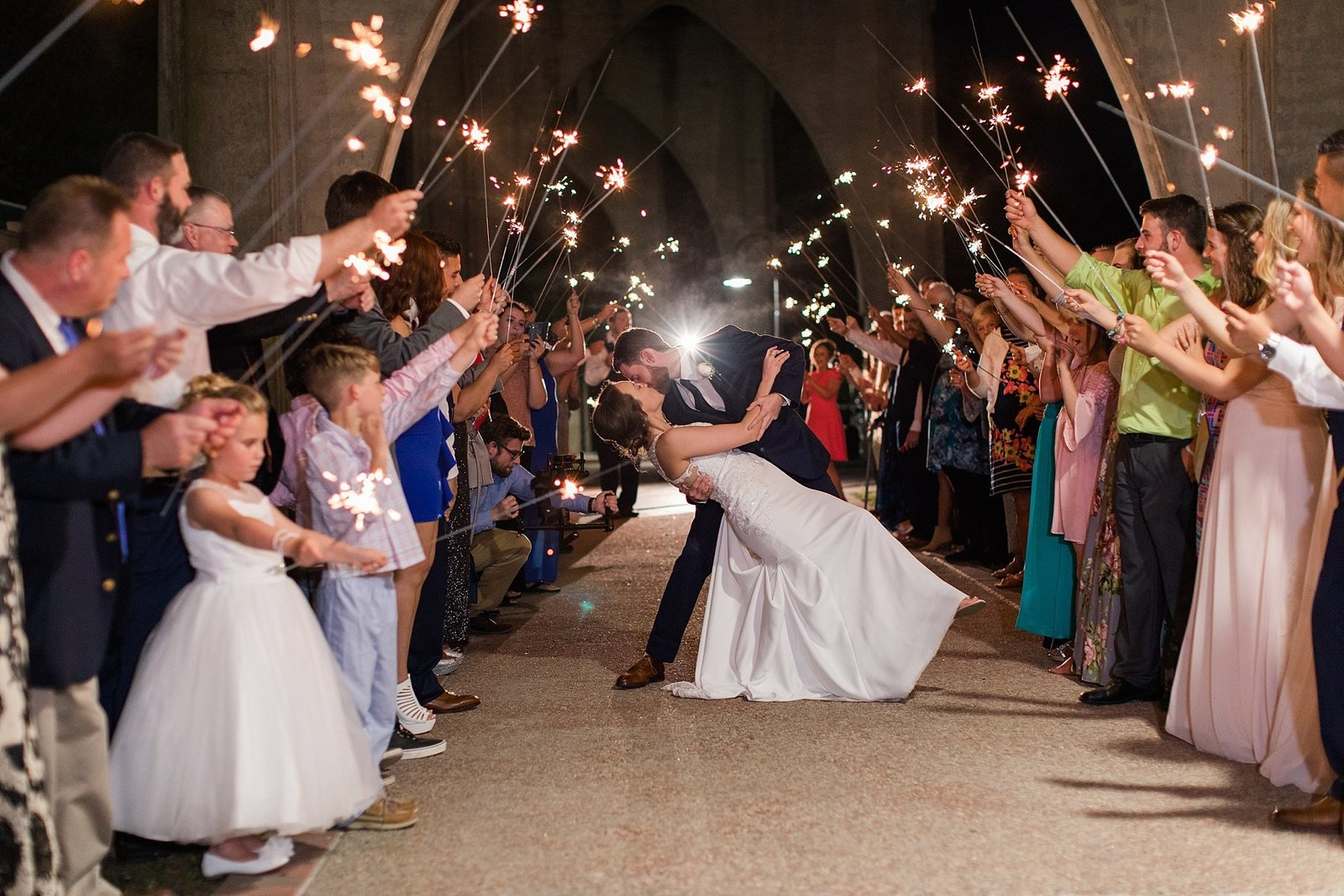 Wedding Day-Sparkler Exit-Conway SC
