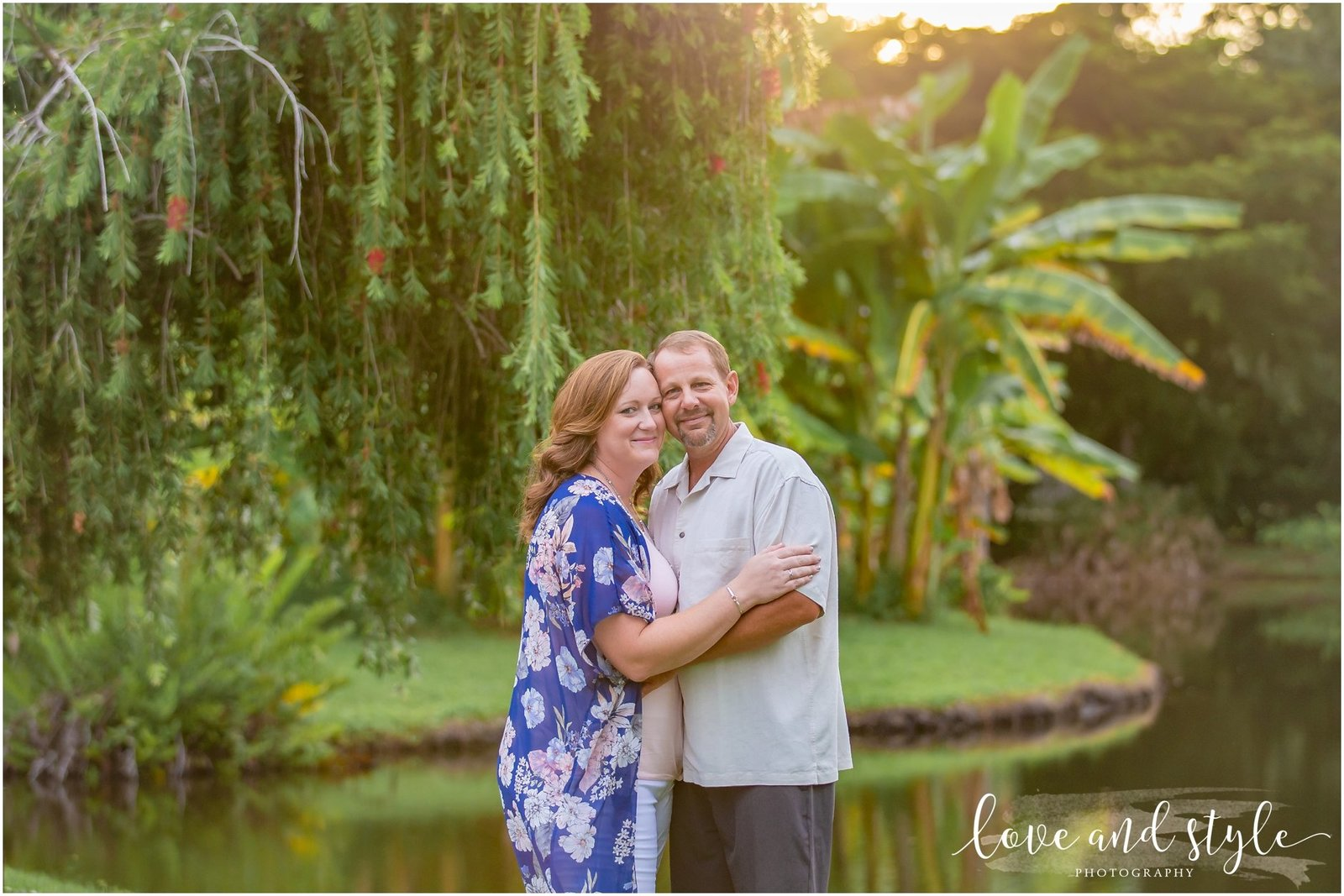 Engagement Photography at Palma Sola Botanical Garden during sunset