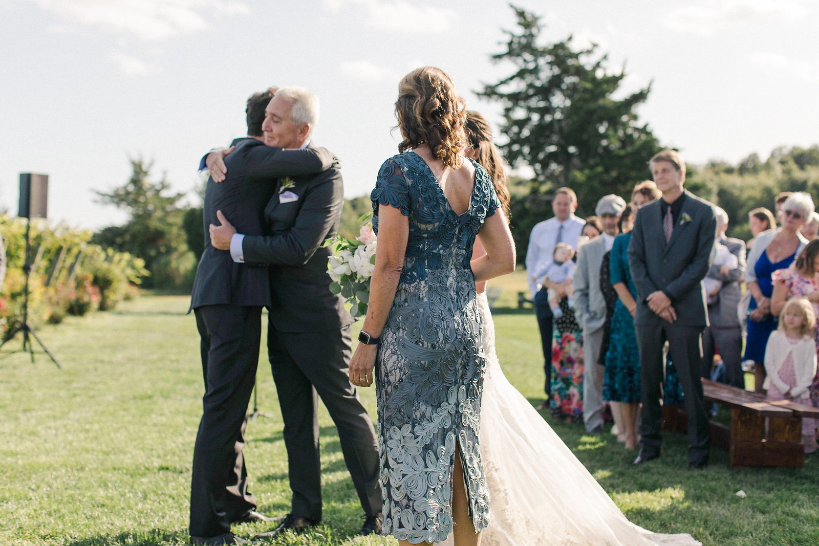 Saltwater Farm Vineyard Wedding_Outdoor Ceremony 4