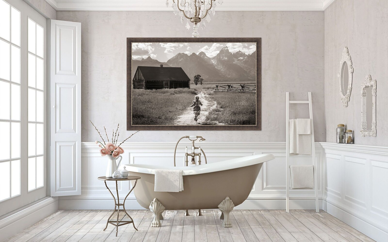 Rustic Romance Bathroom Tan