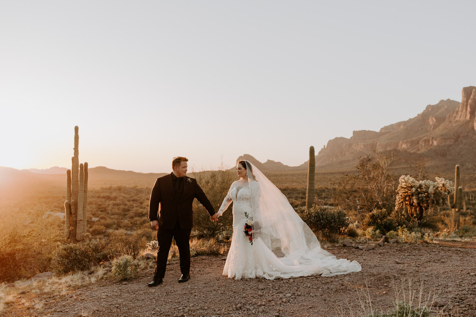 Arizona desert wedding at Tela Peralta Trail