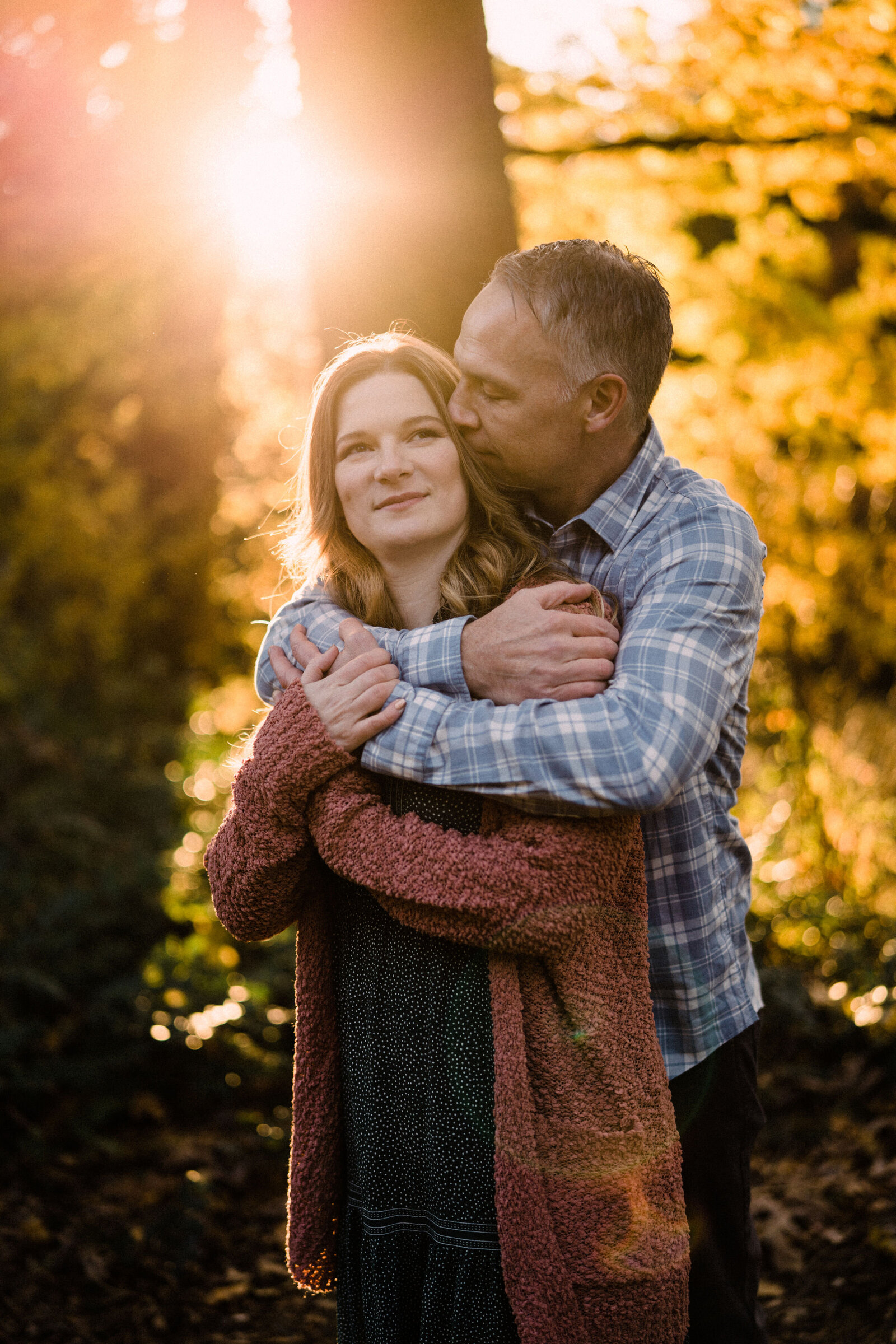 Romantic couple at UW arboretum one of the best spots in seattle for engagement photos