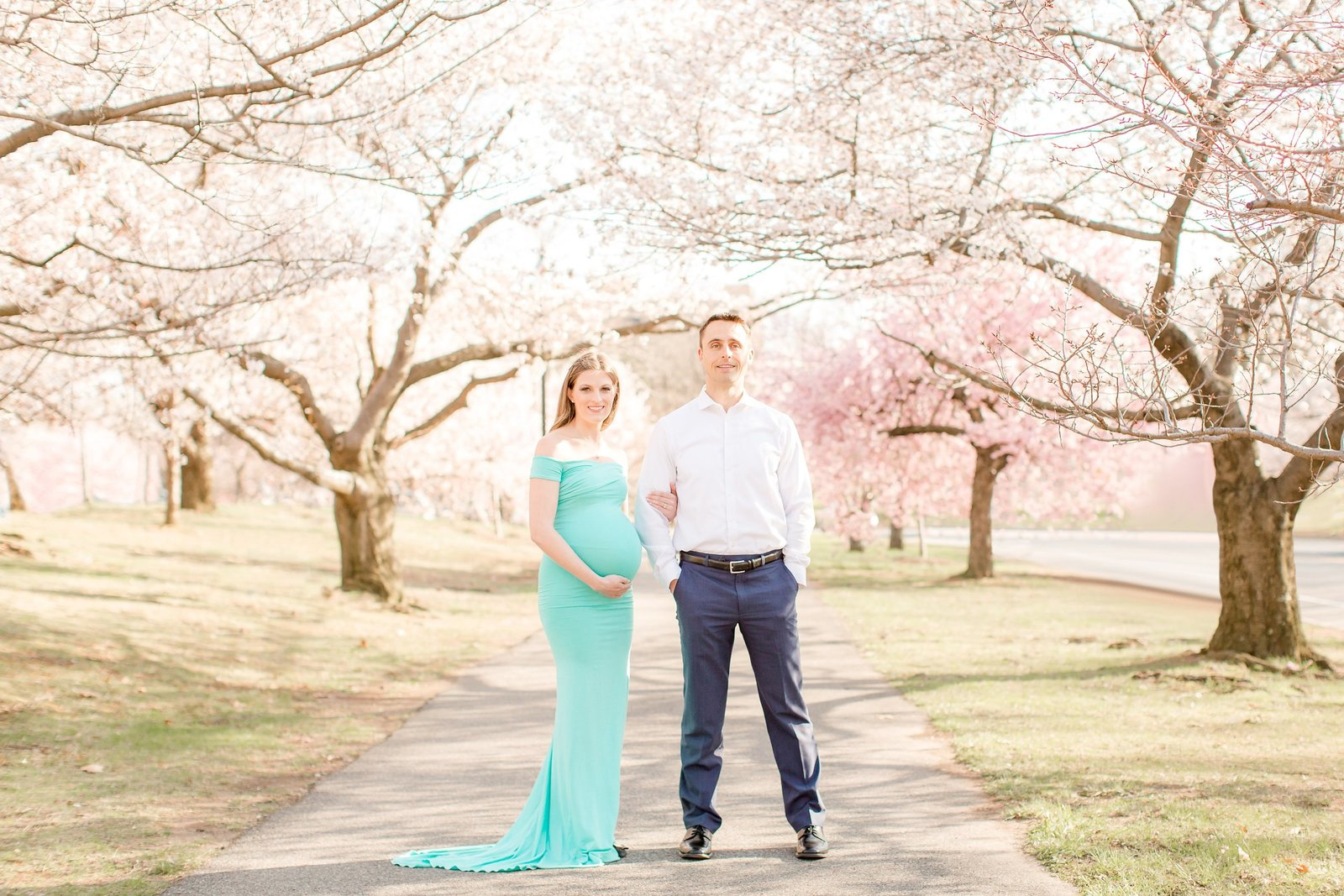 Maternity Session with Cherry Blossoms