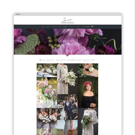 ecommerce wordpress website design for floral artist