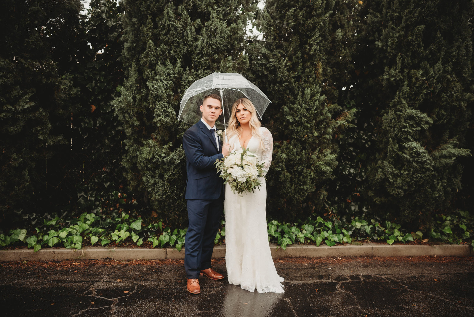 Rainy Wedding by McKinney Dallas Fort-Worth Metroplex Wedding Photographer