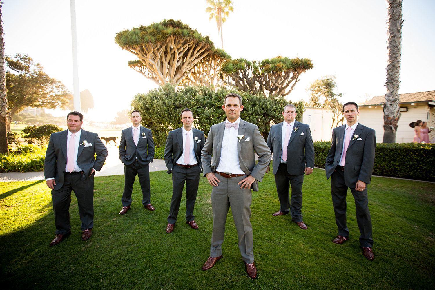 Creative posing ideas for groomsmen