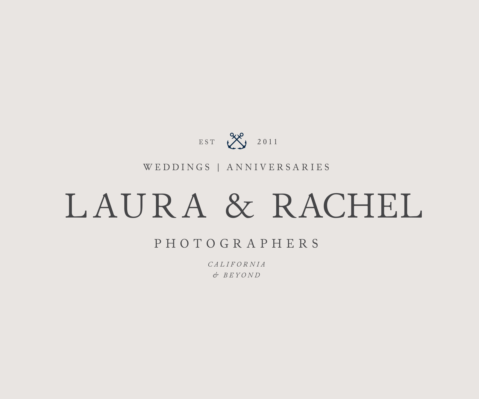 Nautical logo design for wedding photographers
