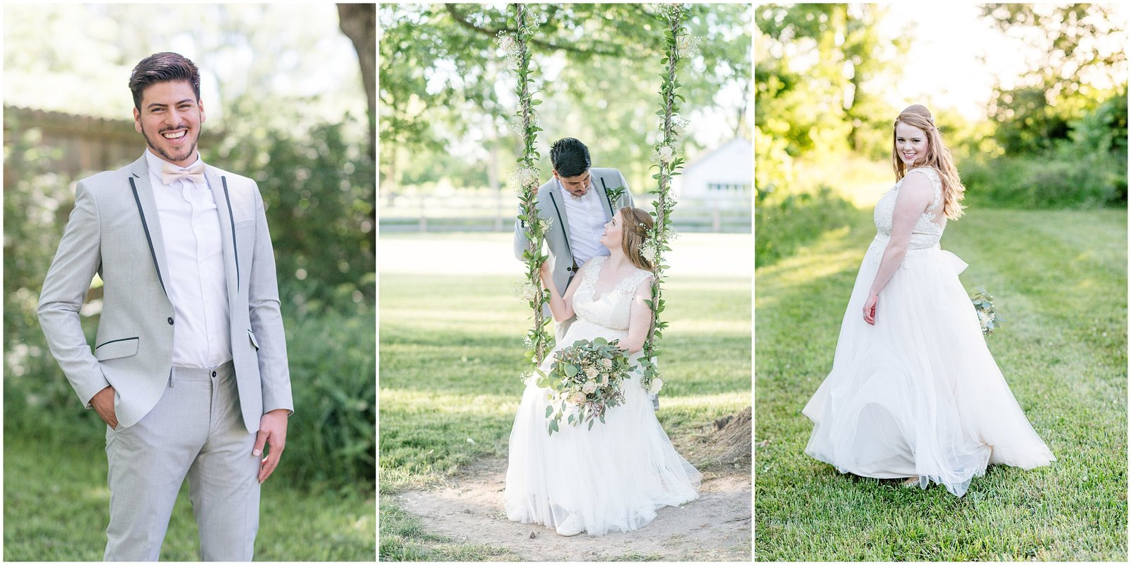 Light and Airy Wedding Photos in Indianapolis