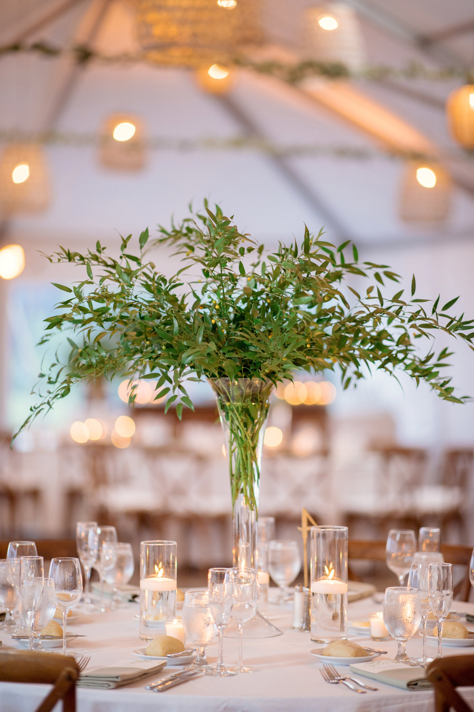 photo of centerpiece from  Gurneys Montauk Resort wedding