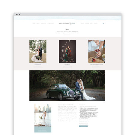 custom website design photographer