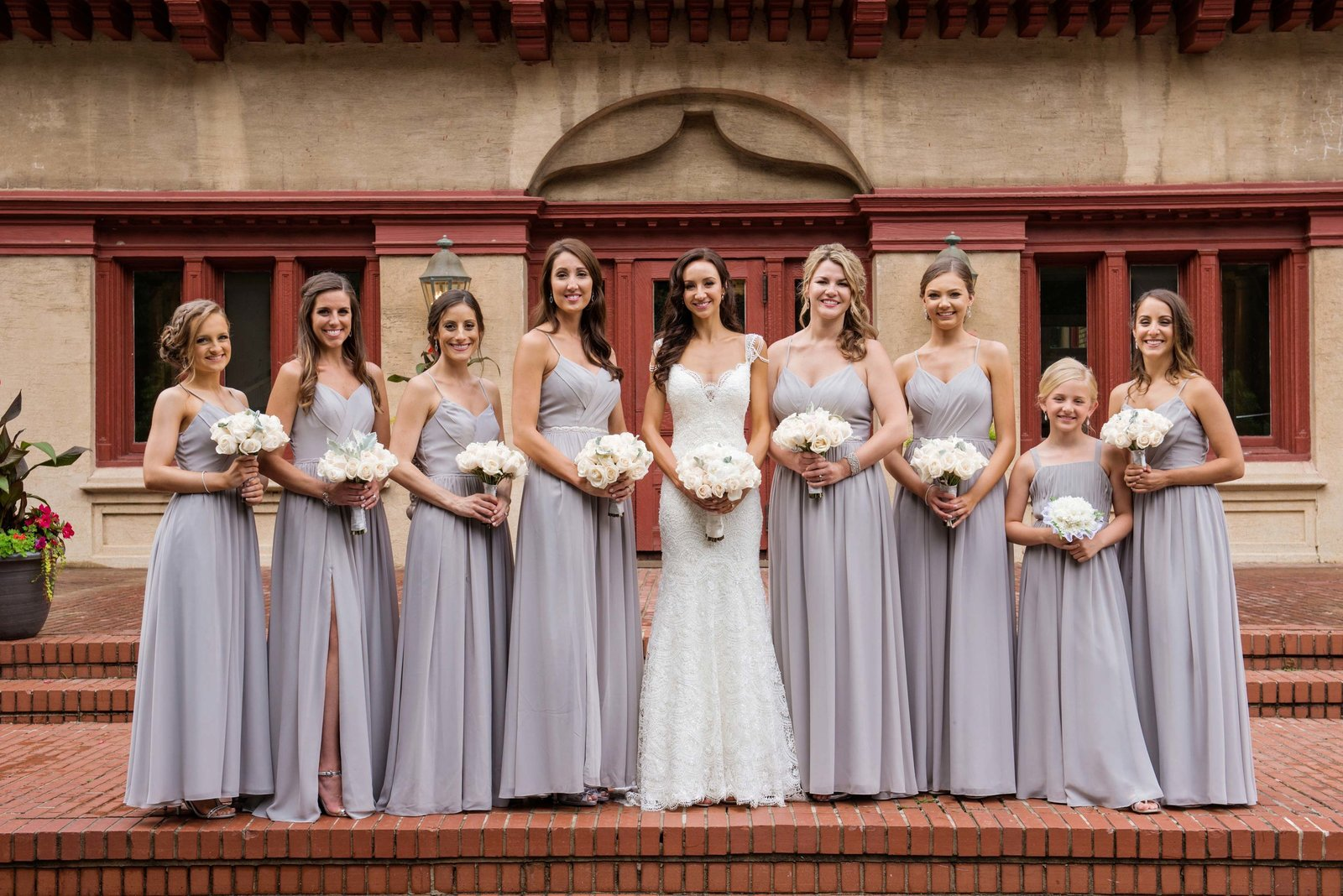 Coindre Hall wedding bridal party photos