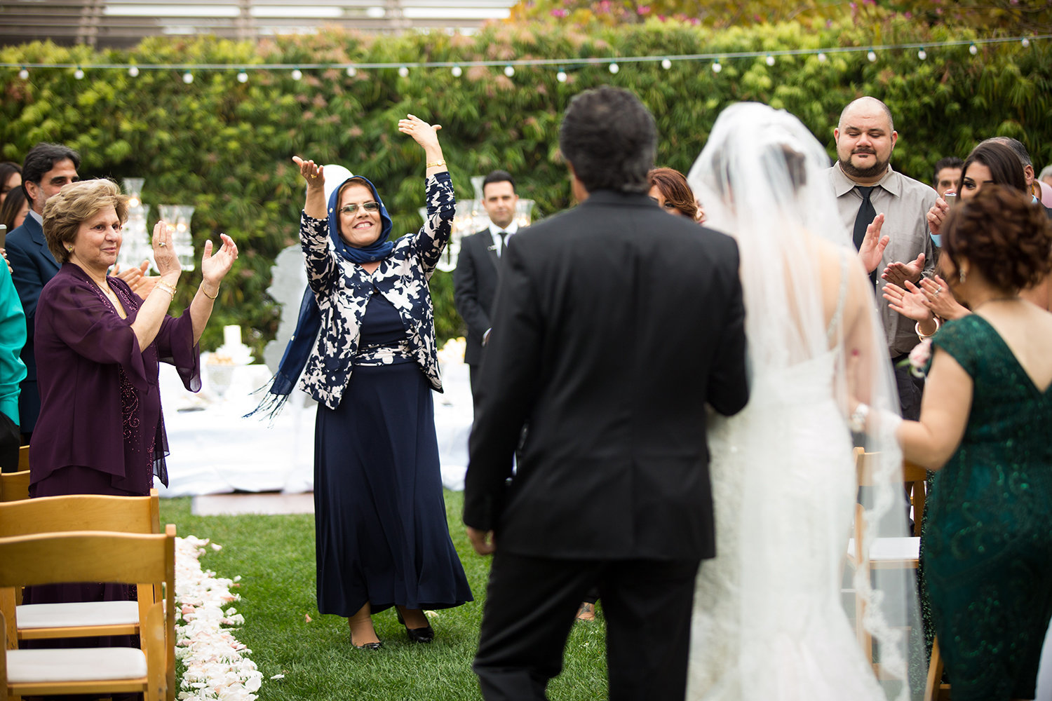 The beginning of a Persian wedding celebration