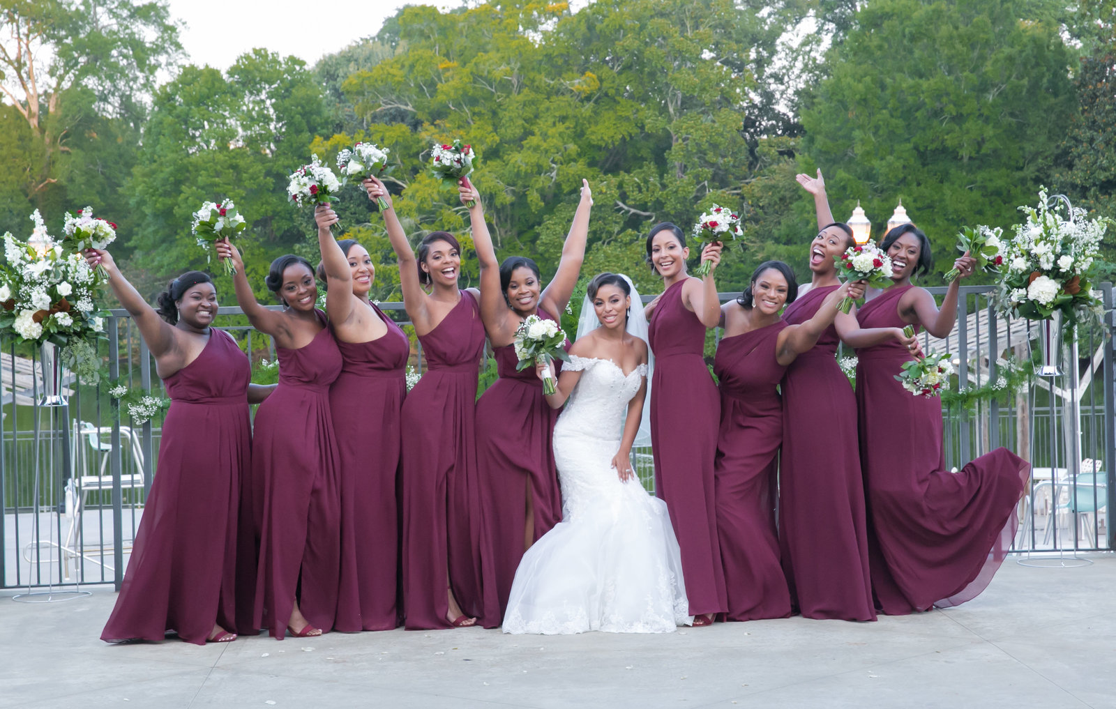That moment when your entire When your bridal squad is beyond excited for you.