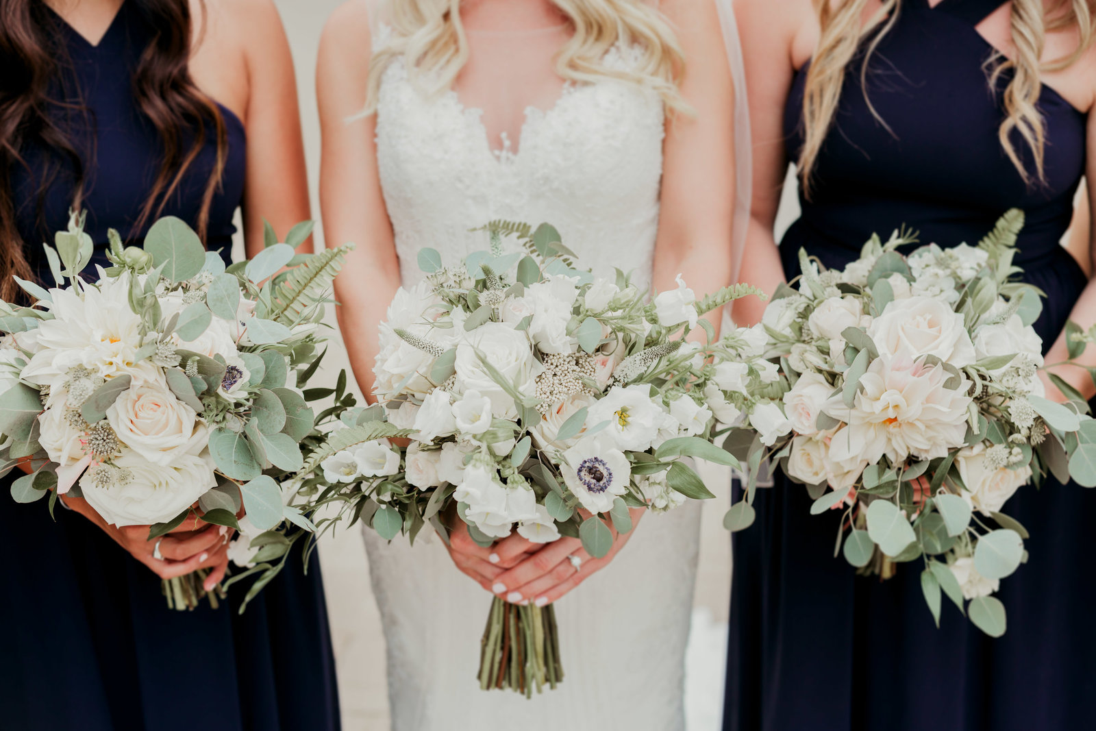 Organic bouquets for Naval Academy wedding