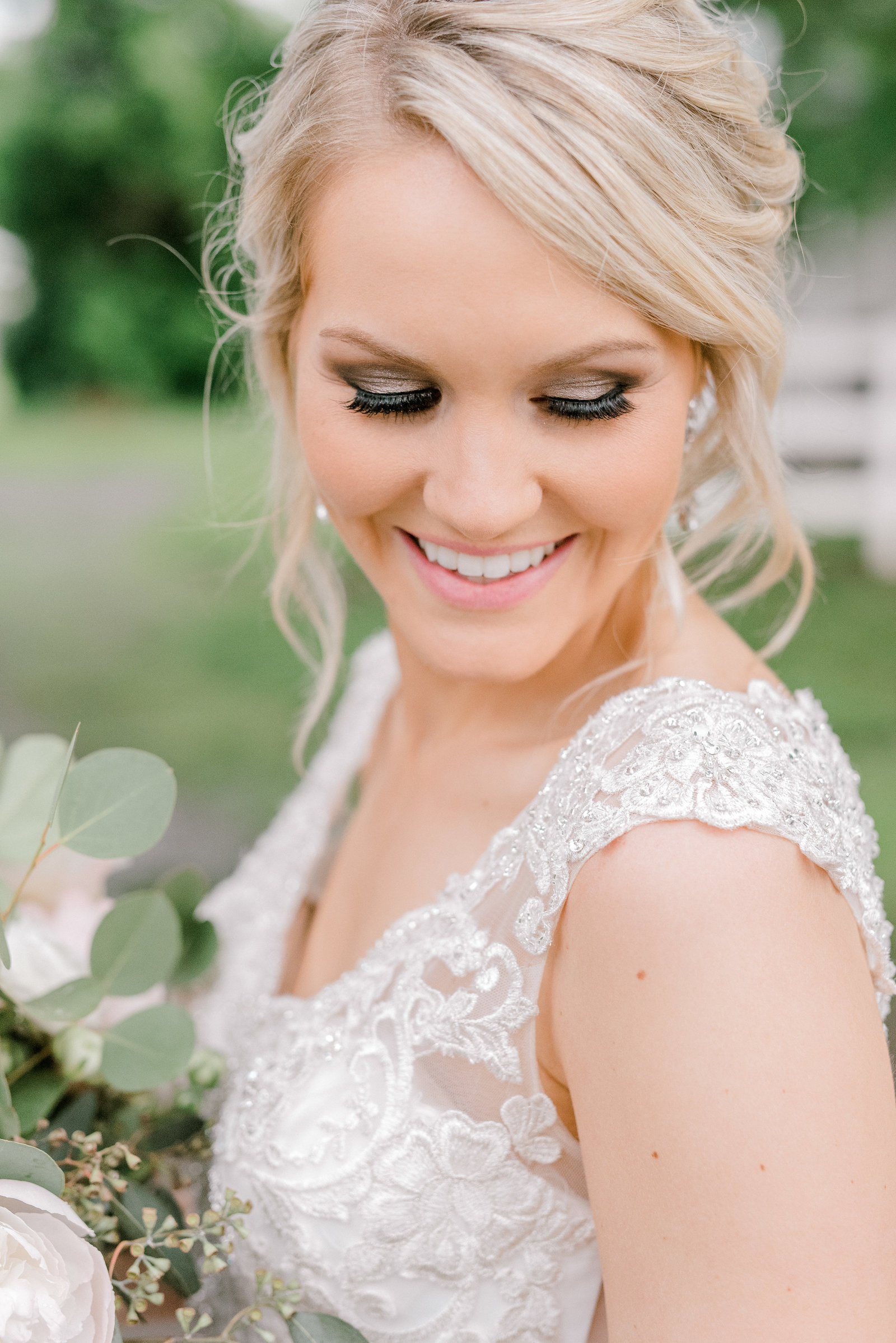 Stunning Bridal Portrait from Oak Alley Farms