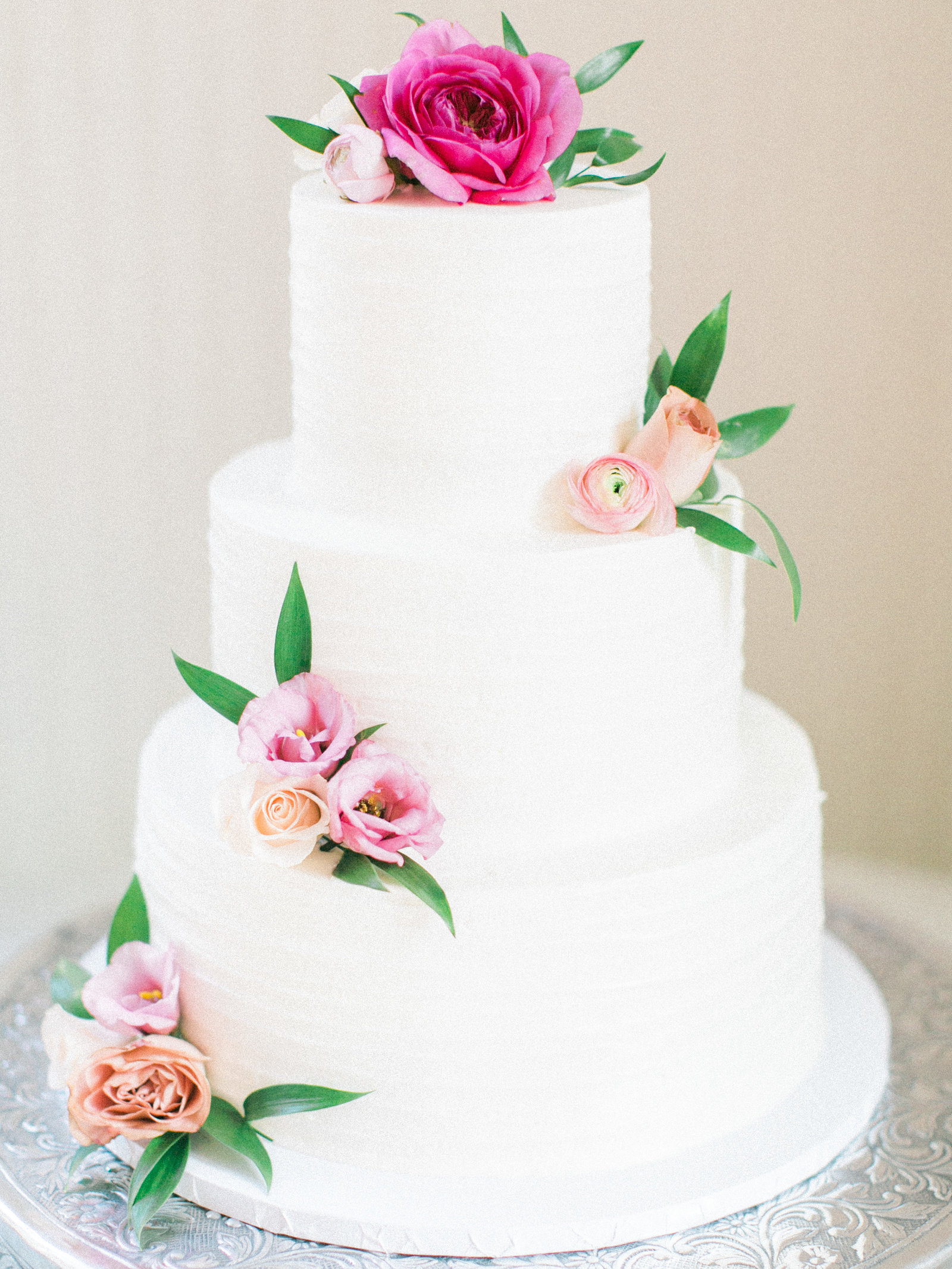 Christa O'Brien Photography Georgia Wedding photographer fine art film  pink florals cake