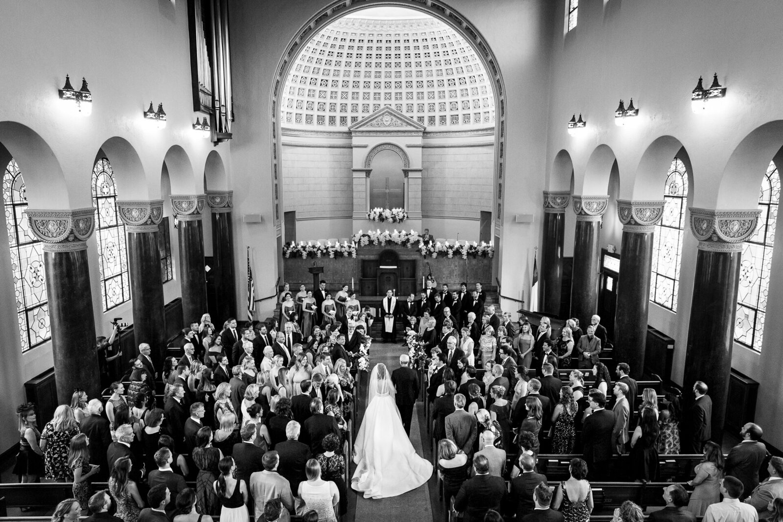 Austin Central Church Wedding