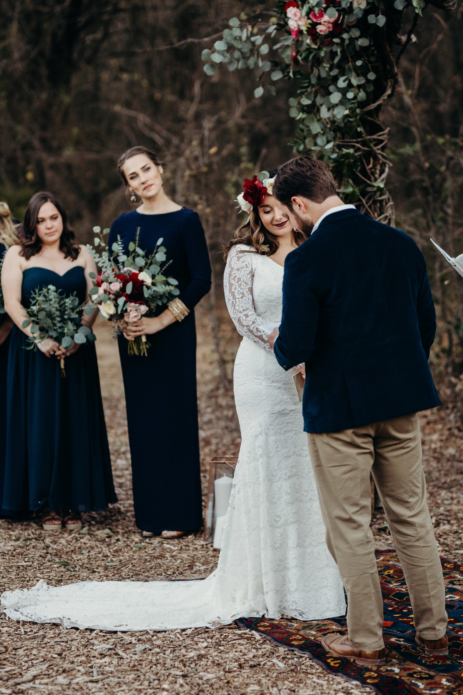 emotional and boho wedding at the grove in aubrey texas
