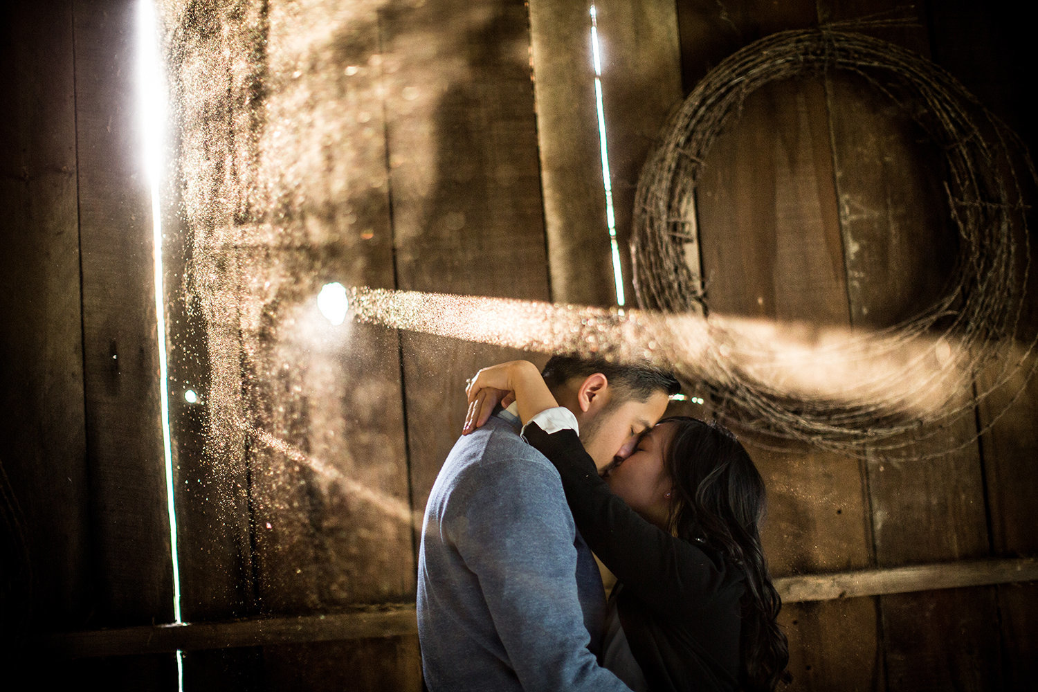 Daley Ranch engagement photos at rustic barn
