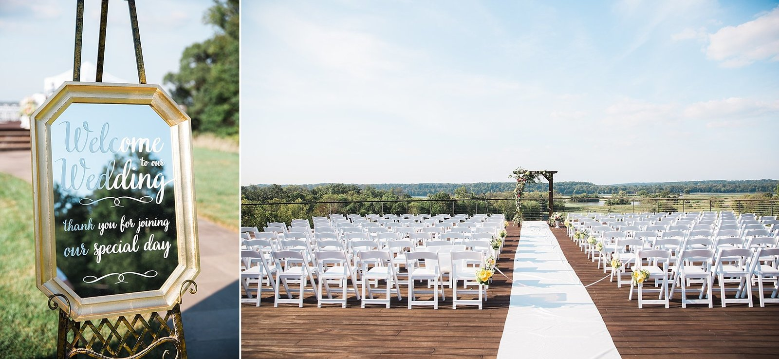 M Harris Studios_Trump National Golf Club Wedding_outdoor wedding ceremony details